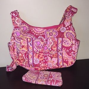 Vera Bradley messenger bag and wallet